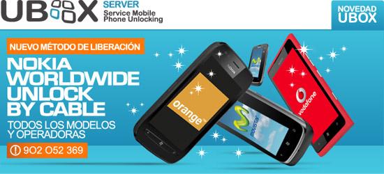 Nokia Worldwide Unlock by Cable. Todos los modelos y operadoras